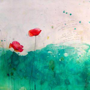 Poppy Field / 100×60 cm.