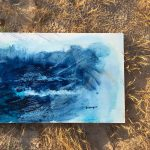 Pure Blue / 55×90 cm.