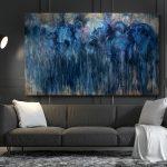 Amalgama Densa y Azul / 200×120 cm.