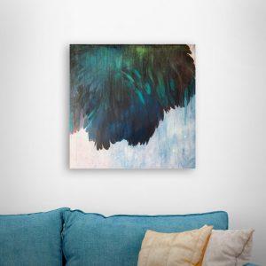 Blue Flower / 60×60 cm.
