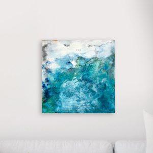 Turquoise / 40×40 cm.